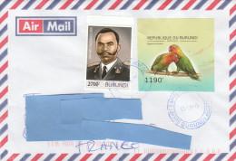 Z3] Enveloppe Cover Burundi NON Dentelé IMPERF Perroquet Parrot Oiseau Tropical Bird President Michel Micombero - Pappagalli & Tropicali