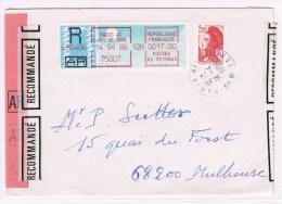 Fr3. Timbre De Distribution. A+R= 17.80 +2.20. Paris 14.04.1986. - 1985 Papier «Carrier»