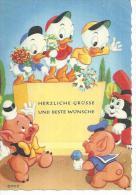 """608 - """" HERZLICHE GRÜSSE UND BESTE WÜNSCHE """" ( Déssin:  WALT DISNEY  ) - Illustrateurs & Photographes"""