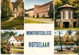 ROTSELAAR (3110) :  Monfortcollege, Eertijds Abdij Vrouwenpark. CPSM Multivues Couleur. - Rotselaar