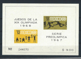 MX - 1967 - BLOCK - OLYMPIADE 1968 - MNH - POSTFRISCH - Mexique