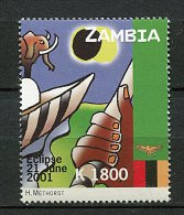 (cl 10 - P42) Zambie** N° 1112 (ref. Michel Au Dos) - Eclipse Solaire. Elephants - Zambia (1965-...)