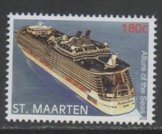ST. MAARTEN ,2015, MNH,SHIPS, CRUISESHIPS, ALLURE OF THE SEAS,1v - Barche