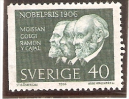 567 SELLO DE SUECIA DEL AÑO 1966 DE RAMON Y CAJAL 40  (NUEVO-MINT) - Suède