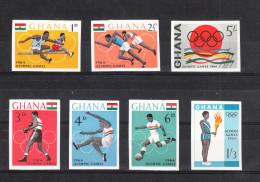 Ghana   -   1964.  Olimpiadi  Di Tokyo. Set Imperf. Completo  MNH.  Raro - Estate 1964: Tokio