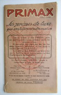- LIVRET PRIMAX PUB BYRRH AU DOS - REMIS Par L' EPICERIE PARISIENNE A COSNE SUR LOIRE - Publicités