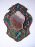 AF. Lot. 541. Petit Miroir En Verre Et Bois Décors D'oiseaux - Oriental Art