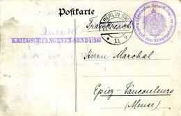 N°43186  -courrier D´un Prisonnier De Guerre  -mars 1915 - Militaria