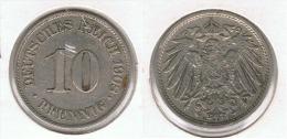ALEMANIA DEUTSCHELAND 10 PFENNIG 1908 A - [ 2] 1871-1918 : Imperio Alemán