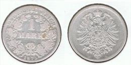 ALEMANIA DEUTSCHES REICH MARK 1875 D PLATA SILBER - 1 Mark