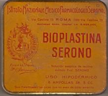CAJA METALICA DE BIOPLASTINA SERONO DE ROMA (ITALIA-ITALY) - Cajas