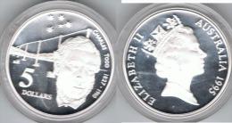 AUSTRALIA 5 DOLLARS 1995 TODD PLATA SILVER - Australia