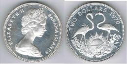 BAHAMA 2 DOLLARS 1970 PLATA SILVER C1 - Bahamas