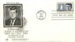 PREMIER JOUR JOHN F.KENNEDY AVEC COURRIER ADRESSE AU CENTRE CULTUREL AMERICAIN PAR DAVID L.STRATMON DIRECTEUR - First Day Covers (FDCs)