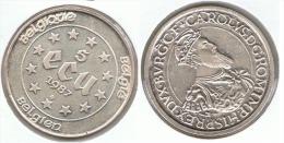 BELGICA CARLOS V 5 ECU 1987 PLATA SILVER. B65 - Collections