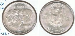 BELGICA DINASTIA 100 FRANCS 1954 PLATA SILVER - 09. 100 Francs