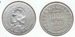 BRASIL 1000 REIS 1907 PLATA SILVER - Brasil