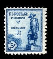 USA 1933, Scott #734, General Tadeusz Kosciuszko, MNH, F/VF - Nuovi