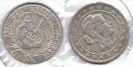 BRASIL 2000 REIS 1924 PLATA SILVER - Brasil