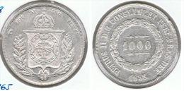 BRASIL PETRUS II 1000 REIS 1853  PLATA SILVER - Brasil