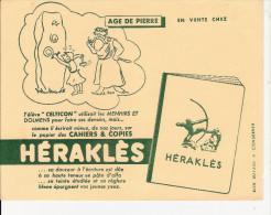BUVARD  PUBILICITE  POUR  CAHIER   HERAKLES   (AGE DE  PIERRE  ) - Colecciones & Series