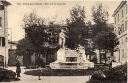 Marche-ancona-iesi Piazza Dello Statuto Veduta Monumento Pergolesi - Italia