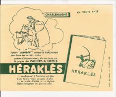BUVARD  PUBILICITE  POUR  CAHIER   HERAKLES   (CHARLEMAGNE ) - Papel Secante