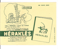 BUVARD  PUBILICITE  POUR  CAHIER   HERAKLES   (FAR- WEST ) - Papel Secante