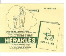 BUVARD  PUBILICITE  POUR  CAHIER   HERAKLES   ( 1er  EMPIRE   ) - Papel Secante