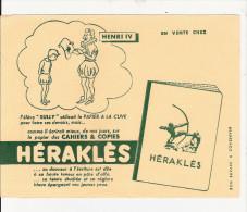 BUVARD  PUBILICITE  POUR  CAHIER   HERAKLES   ( HENRI  IV ) - Papel Secante