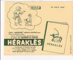 BUVARD  PUBILICITE  POUR  CAHIER   HERAKLES   ( EGYPTE) - Papel Secante