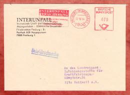 Briefdrucksache, Absenderfreistempel, Interunfall Versicherung, 70 Pfg, Freiburg 1984 (77341) - Lettres & Documents