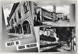 Veneto-rovigo-saluti Da Badia Di Polesine Vedute Anni/50 - Italia