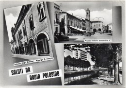 Veneto-rovigo-saluti Da Badia Di Polesine Vedute Anni/50 - Altre Città