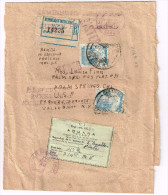 Mexico Reg. Cover Scott #716b 2x Mexico DF 1941 Aduana Postal Label #C1 H/S Examined By Customs Via TX To PS CA AV-F - Mexico