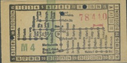 TICKET TRAM  HEIDELBERG ALEMANIA - Tramways