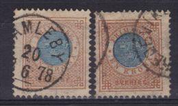 SUEDE N° 26 Obl.dent. 13 (2 Nuances) - Suède