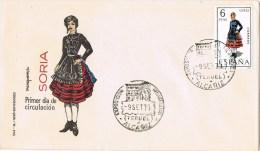 13309. Carta  ALCAÑIZ (Teruel) 1970. Exposicion Filatelica, Traje Tipico Soria - 1931-Hoy: 2ª República - ... Juan Carlos I