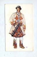 Carte Costume Paysan Osijek - Croatia