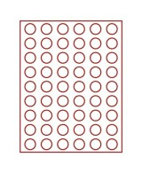 Lindner 2154 Coin Box STANDARD With 54 Round Compartments For Coins With Ø 25,75 Mm, E.g. For 2 EURO Coins - Supplies And Equipment