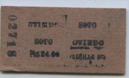 TICKET FERROCARRIL  // OVIEDO - SOTO - Spoorwegen