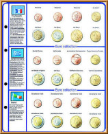 Lindner 8450-4 Illustrated Page EURO COLLECTION: EURO Coin Sets France/Greece/Ireland - Supplies And Equipment