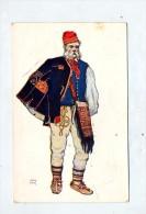 Carte Costume  Paysan Lika - Croatia
