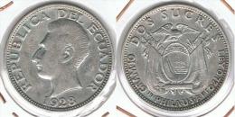 ECUADOR 2 SUCRES 1928 PHILADELFIA PLATA SILVER - Ecuador