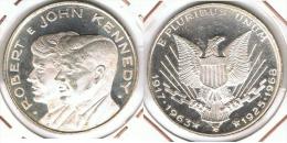 EE.UU. USA ROBERT Y JOHN KENNEDY  1968 PLATA SILVER C1 - Otros