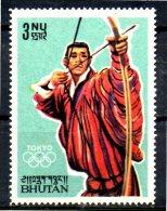BHOUTAN  N° 37 * *     JO 1964  Tir A L´arc - Archery