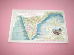 Carte Colonies Françaises:Loges Factoreries Des Indes ; Le Port De Pondichéri.Publicité Chocolat D´Aiguebelle , Drôme - Pubblicitari