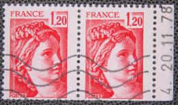 1977-78 Sabine De Gandon N°1974 Paire Carnet Datée (20/11/78) - Coins Datés