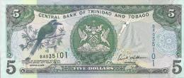 Trinidad-Tobago P47, $5, Mot Mot Bird / Women With Wicker Baskets At Market UNC - Trinidad & Tobago