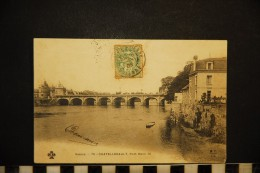 CP, 86, CHATELLERAULT Pont Henri IV  N° 75 Dos Simple Voyagé En 1906 - La Roche Posay